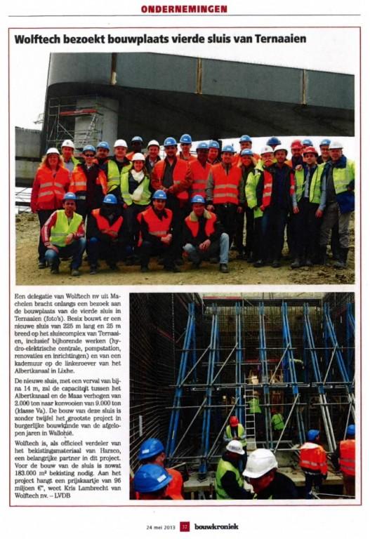 Bouwkroniek - mai 2013 - visite Lanaye